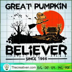 Great Pumpkin Believer Snoopy SVG, Snoopy SVG, Scary SVG, Halloween SVG