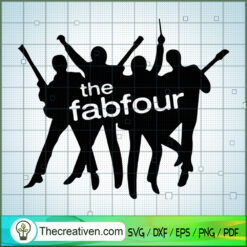 The Fabfour Beatles SVG, Rock Band SVG, The Beatles SVG, The Beatles The Legend Of Rock SVG