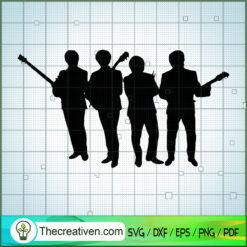 Member of The Beatles Play Guitar SVG, Rock Band SVG, The Beatles SVG, The Beatles The Legend Of Rock SVG