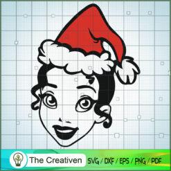 Belle Princess Christmas Hat SVG, Disney Princess SVG, Christmas SVG