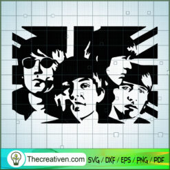 The Beatles Flag SVG, Rock Band SVG, The Beatles SVG, The Beatles The Legend Of Rock SVG
