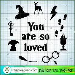You Are So Loved SVG, Hogwarts SVG, Harry Potter SVG