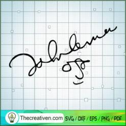 John Lennon Signature SVG, Rock Band SVG, The Beatles SVG, The Beatles The Legend Of Rock SVG