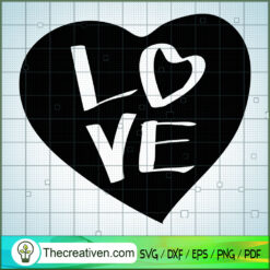 Love Heart SVG Free, Love SVG Free,Free SVG For Cricut Silhouette