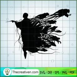 Black Shadow Voldemort SVG, Hogwarts SVG, Harry Potter SVG