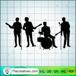 Member of The Beatles Shadow SVG, Rock Band SVG, The Beatles SVG, The Beatles The Legend Of Rock SVG