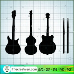 The Beatles's Guitar SVG, Rock Band SVG, The Beatles SVG, The Beatles The Legend Of Rock SVG