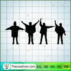 Shadow Member of The Beatles SVG, Rock Band SVG, The Beatles SVG, The Beatles The Legend Of Rock SVG