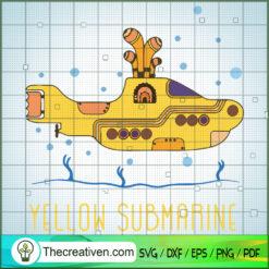 Yellow Submarine The Beatles SVG, Rock Band SVG, The Beatles SVG, The Beatles The Legend Of Rock SVG