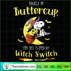 Buckle Up Butter Cup SVG, Scary SVG, Halloween SVG