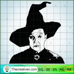 Professor Minerva McGonagall SVG, Hogwarts SVG, Harry Potter SVG