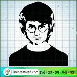 Harry Face SVG, Hogwarts SVG, Harry Potter SVG