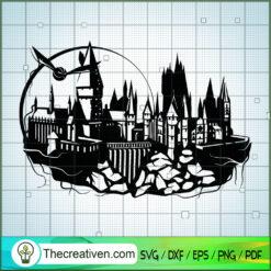 Hogwarts Castle Monogram SVG, Hogwarts SVG, Harry Potter SVG