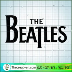 The Beatles Logo Silhouette SVG, Rock Band SVG, The Beatles SVG, The Beatles The Legend Of Rock SVG