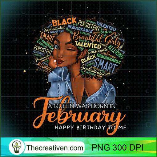 A Queen Was Born In February Black Women Aquarius Birthday T Shirt copy