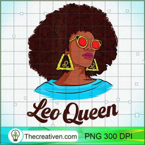 Afro American queen July August Birthday Leo Zodiac sign T Shirt copy