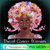Afro Flowers Hair Art Black Queen Breast Cancer Awareness T Shirt copy