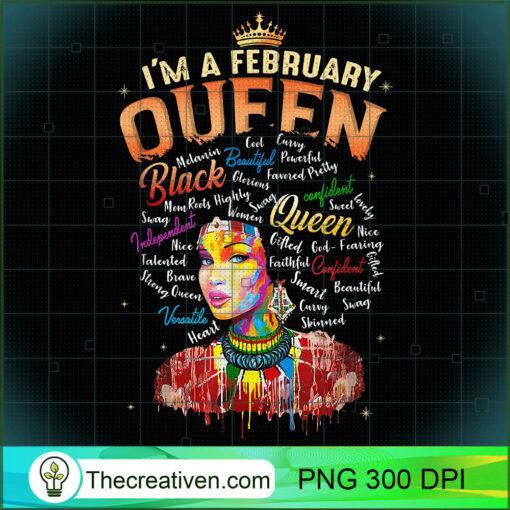 Aquarius African Pride Black Queen February Birthday T Shirt copy