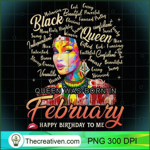 Aquarius African Pride Queen Was Born In February Birthday T Shirt copy