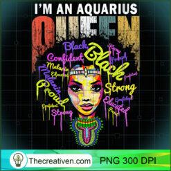 Aquarius Birthday Shirts for Women - January February Queen  PNG, Afro Women PNG, Aquarius Queen PNG, Black Women PNG