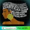 Aquarius Black Queen Zodiac Birthday T Shirt for Black Women copy
