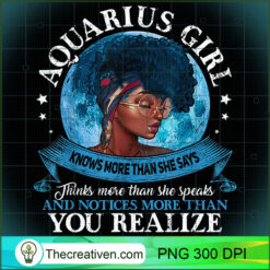 Aquarius Girls Black Queen Best January Birthday Gift  PNG, Afro Women PNG, Aquarius Queen PNG, Black Women PNG