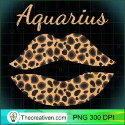Aquarius Leopard Lips Queen Zodiac Birthday  PNG, Afro Women PNG, Aquarius Queen PNG, Black Women PNG