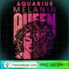 Aquarius Melanin Queen Strong Black Woman Zodiac Horoscope Pullover Hoodie copy