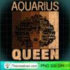 Aquarius Queen Afro Birthday Melanin Black African American Long Sleeve T Shirt copy