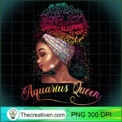 Aquarius Queen Afro Women January February Melanin Birthday PNG, Afro Women PNG, Aquarius Queen PNG, Black Women PNG