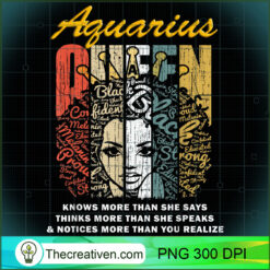 Aquarius Queen More Than She Says PNG, Afro Women PNG, Aquarius Queen PNG, Black Women PNG