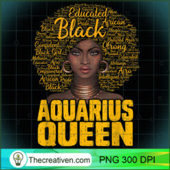 Aquarius Queen Black Woman Natural Hair African American PNG, Afro Women PNG, Aquarius Queen PNG, Black Women PNG