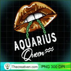 Aquarius Queen Lips Sexy Black Afro Queen January Womens Long Sleeve PNG, Afro Women PNG, Aquarius Queen PNG, Black Women PNG