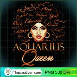 Aquarius Queen Zodiac Born In January or February Birthday PNG, Afro Women PNG, Aquarius Queen PNG, Black Women PNG