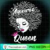 Aquarius Zodiac Birthday Afro Gift T Shirt for Black Women copy