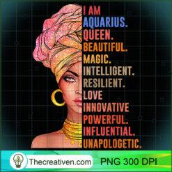 Aquarius queen funny birthday gift for Aquarius zodiac PNG, Afro Women PNG, Aquarius Queen PNG, Black Women PNG