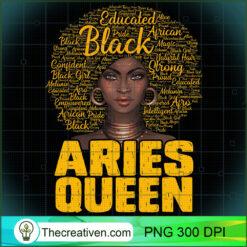 Aries Queen Black Woman Afro Natural Hair African American PNG, Afro Women PNG, Aries Queen PNG, Black Women PNG
