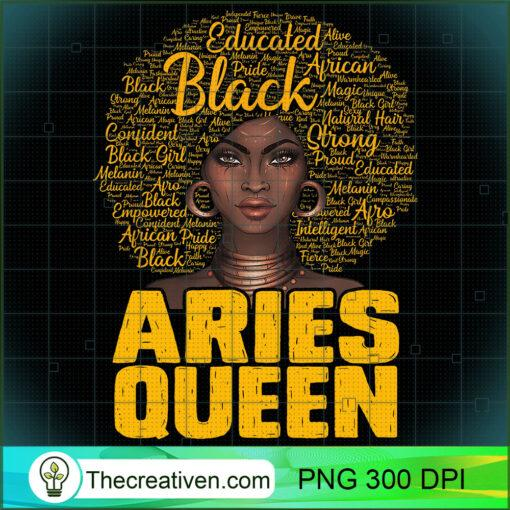 Aries Queen Black Woman Afro Natural Hair African American T Shirt copy