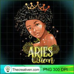 Aries Queen Strong Smart Afro Melanin Black Women PNG, Afro Women PNG, Aries Queen PNG, Black Women PNG