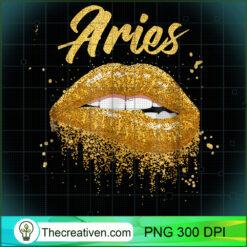 Aries Zodiac Golden Lips Black Women PNG, Afro Women PNG, Aries Queen PNG, Black Women PNG