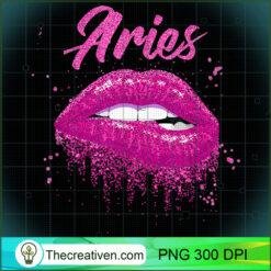 Aries Zodiac Pink Lips Black Women PNG, Afro Women PNG, Aries Queen PNG, Black Women PNG