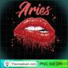 Aries Zodiac Birthday Red Lips T Shirt for Black Women copy
