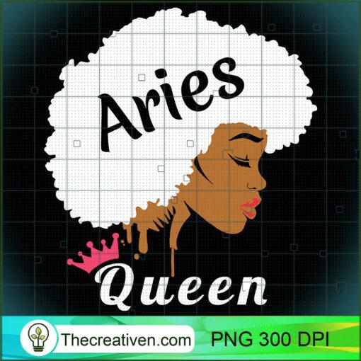 Aries Zodiac Birthday T Shirt Cool Black Women Afro Shirt copy