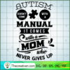 Autism comes with a mom copy