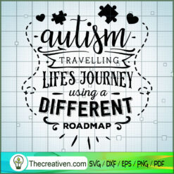 Autism - Different Roadmap SVG Free, Autism SVG Free, Free SVG For Cricut Silhouette