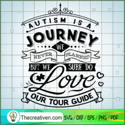 Autism Is A Journey SVG Free, Autism SVG Free, Free SVG For Cricut Silhouette