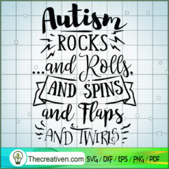 Autism Rocks And Rolls SVG Free, Autism SVG Free, Free SVG For Cricut Silhouette