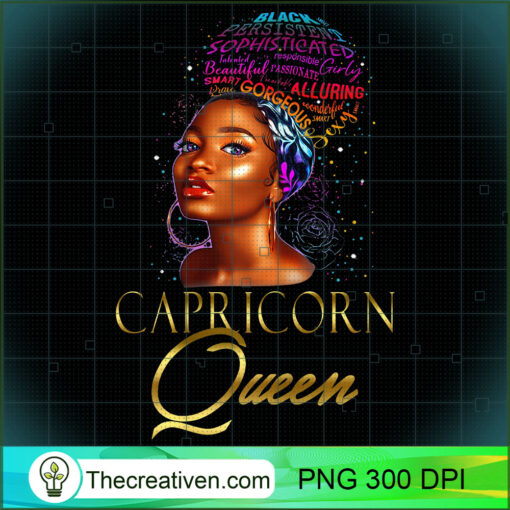 Beautiful African American Capricorn Queen Natural Hair T Shirt copy