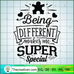 Being Different Makes Me SVG Free, Autism SVG Free, Free SVG For Cricut Silhouette