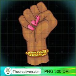 Black Power Feminist Aries Zodiac Sign PNG, Afro Women PNG, Aries Queen PNG, Black Women PNG
